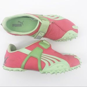 Puma | Mostro Mesh Vented Pink Green Sneakers